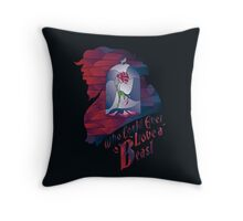 Who could ever love a Beast Throw Pillow