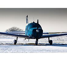 PA28 wrapped up against the cold Photographic Print