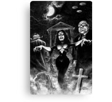 Vampira Plan 9 zombies Canvas Print