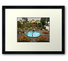Wedding at Portmeirion Village Framed Print