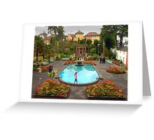 Wedding at Portmeirion Village Greeting Card