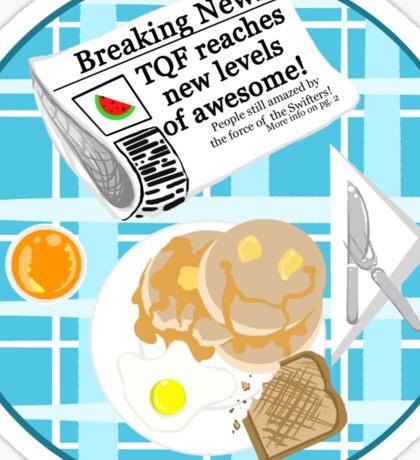 A TQF Breakfast Sticker