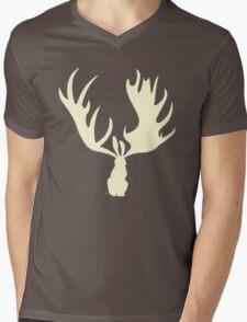 Hare Moose  Mens V-Neck T-Shirt