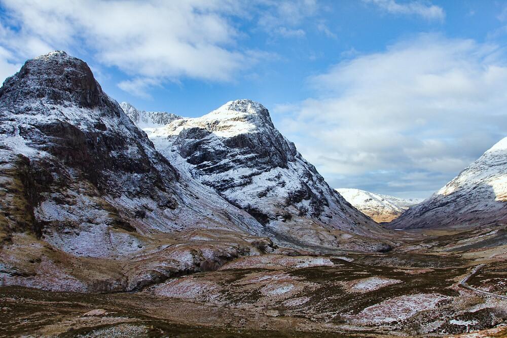 Winter Mountains of Glencoe by derekbeattie