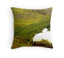 Steam Train on the Fort William to Mallaig railway Throw Pillow