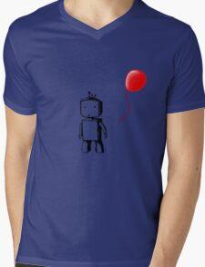 Robot Balloon Mens V-Neck T-Shirt