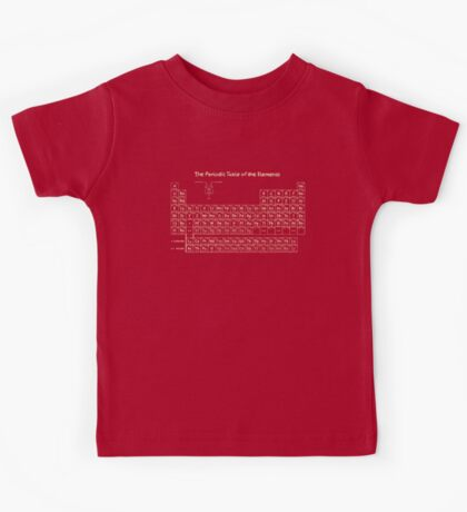 The Periodic Table of the Elements - Hand Drawn Kids Tee