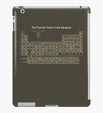 The Periodic Table of the Elements - Hand Drawn iPad Case/Skin