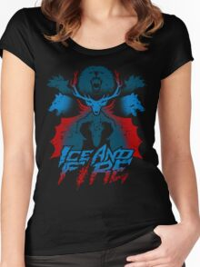 ICE AND FIRE Women's Fitted Scoop T-Shirt