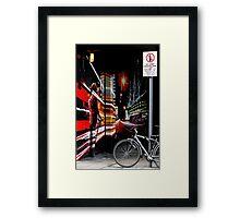 Graffiti Corner Framed Print