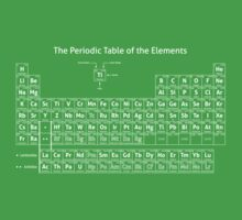 The Periodic Table of the Elements One Piece - Short Sleeve