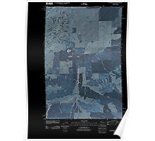 USGS Topo Map Washington State WA Sagebrush Flat 20110425 TM Inverted Poster