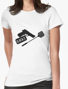 SWAT- black Womens Fitted T-Shirt