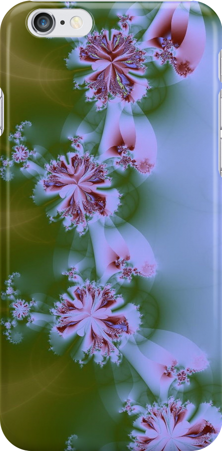 Floral Fractal ~ iPhone Cover by Greta  McLaughlin