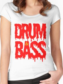 Drum & Bass  Women's Fitted Scoop T-Shirt