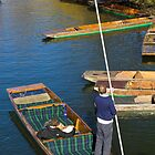 Punts on the River Cam by Paul Collin