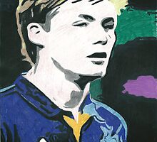 Conor McAleny Everton Comic Book Style Image by chrisjh2210