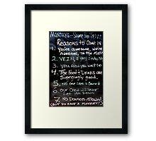 Great signage Framed Print