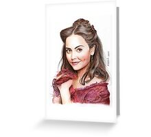 Clara Oswald (Doctor Who) - Victorian Era Greeting Card