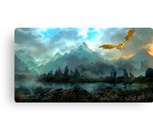 Golden Dragon Mountain Canvas Print