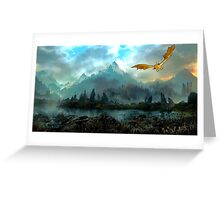 Golden Dragon Mountain Greeting Card
