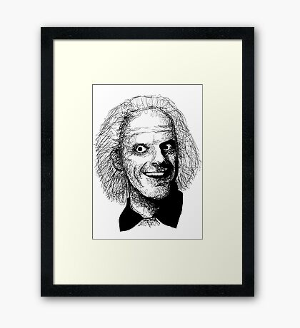 Doc Brown Framed Print