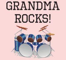 Grandma Rocks Drums One Piece - Short Sleeve