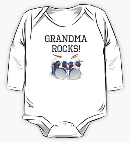 Grandma Rocks Drums One Piece - Long Sleeve