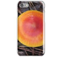 Reddish Orange Mushroom iPhone Case/Skin