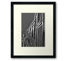 Hogwarts Carriage & Steam in Black & White Framed Print