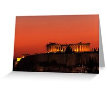Sunset at Acropolis Greeting Card