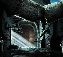 Castle Corridor by Remus Brailoiu