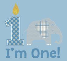 First Birthday Elephant Kids Tee