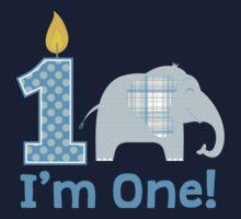 First Birthday Elephant One Piece - Long Sleeve