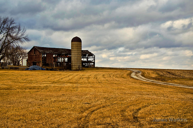 Weathered Barn by James Watkins