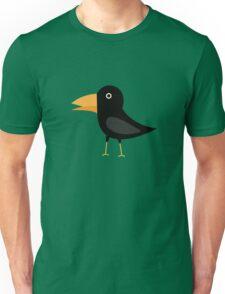 Black cute raven Unisex T-Shirt