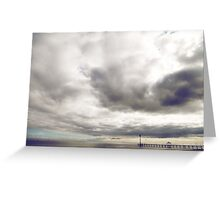 Boardwalk Sunset Greeting Card