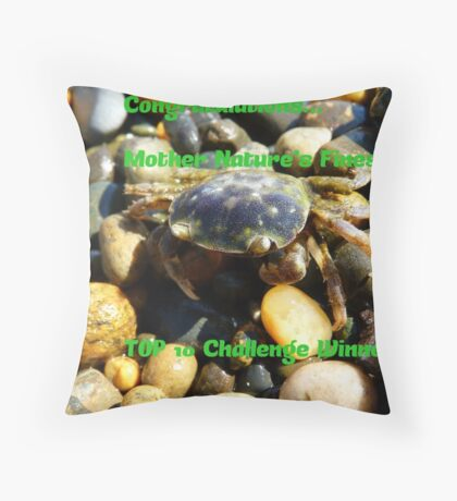 Congratulations…Mother Nature's Finest TOP 10 Challenge Winner Throw Pillow