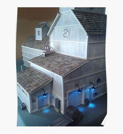 Grain Elevator (A Miniature) Poster