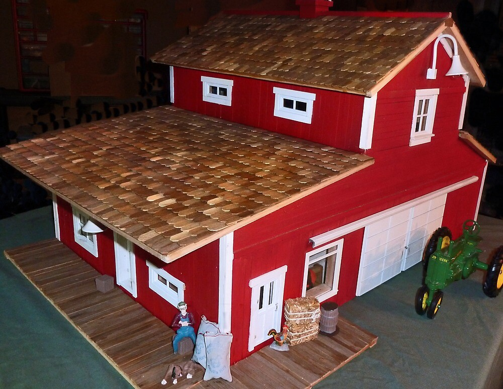 Horse Barn (A Miniature) by Nadya Johnson
