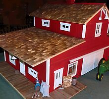 Horse Barn (A Miniature) by Nadya Johnson