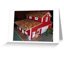 Horse Barn (A Miniature) Greeting Card