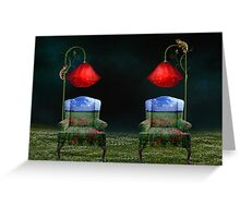 Poppy Dreams & Chameleon Schemes Greeting Card