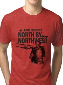 Alfred Hitchcock's North by Northwest by Burro! Tri-blend T-Shirt