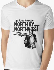 Alfred Hitchcock's North by Northwest by Burro! Mens V-Neck T-Shirt