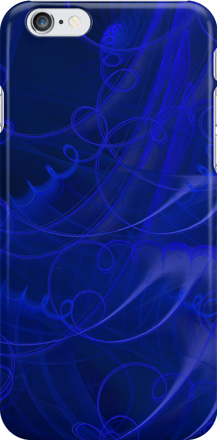 Wired-up iPhone, in blue by Belinda Osgood