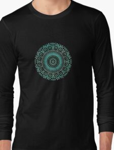 green circle mosaic Long Sleeve T-Shirt