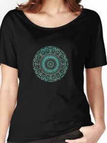 green circle mosaic Women's Relaxed Fit T-Shirt