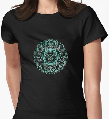 green circle mosaic Womens Fitted T-Shirt