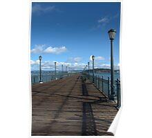 Pier Blue Sky Poster